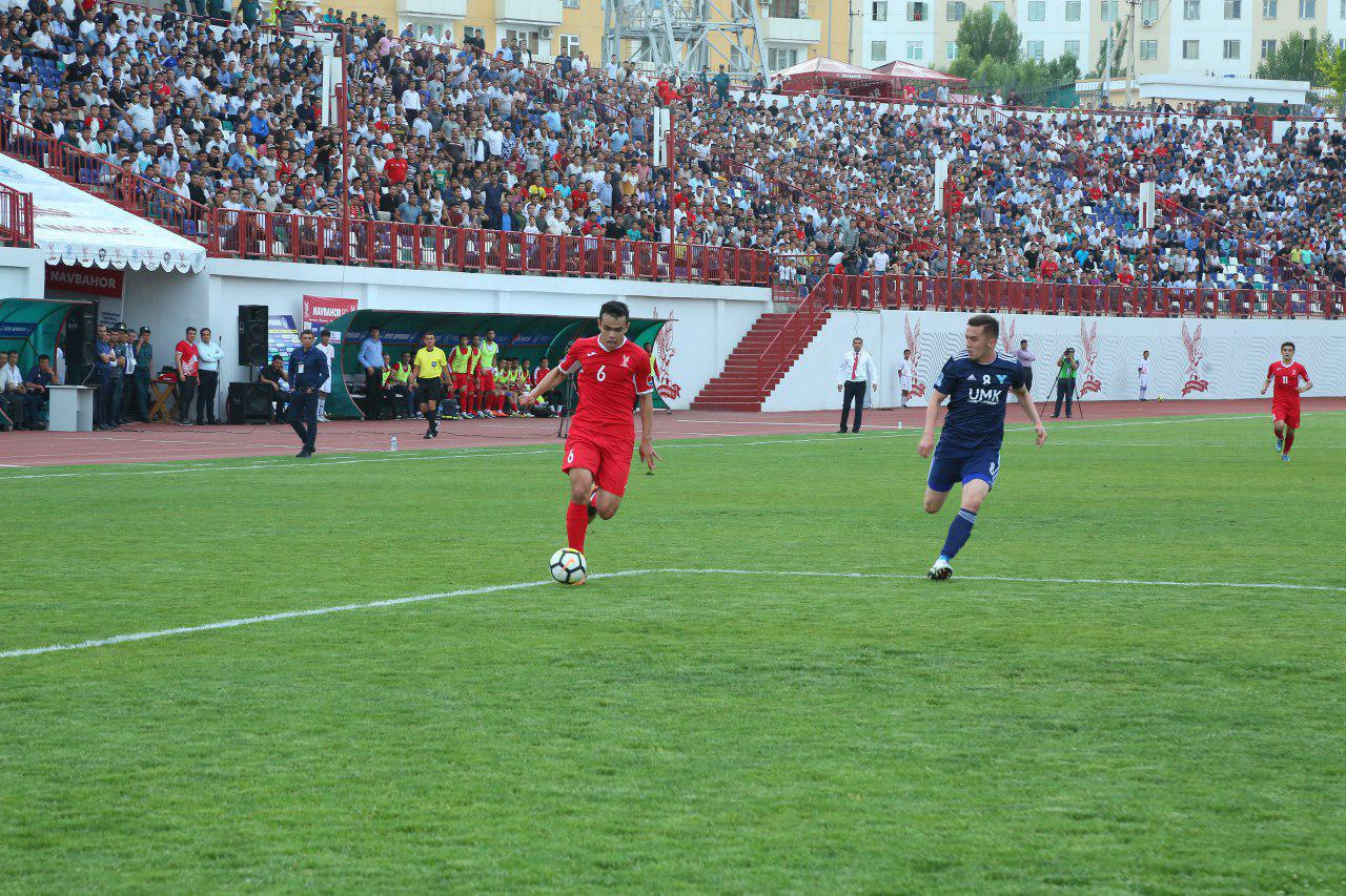 A hat-trick from Azamat Allaniyazov claims three points for FC Navbahor