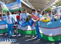 Uzbekistan's Para-athletes get a warm welcome home at the Islam Karimov Tashkent International Airport
