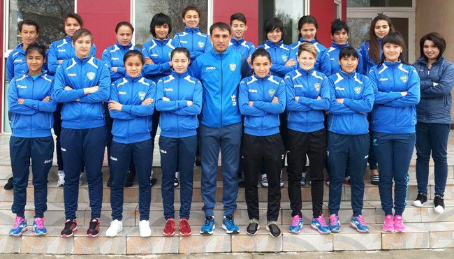 Uzbekistan women's national football team has departed to DPR Korea to participate in the Qualification round of 2018 AFC Asian Women's Cup