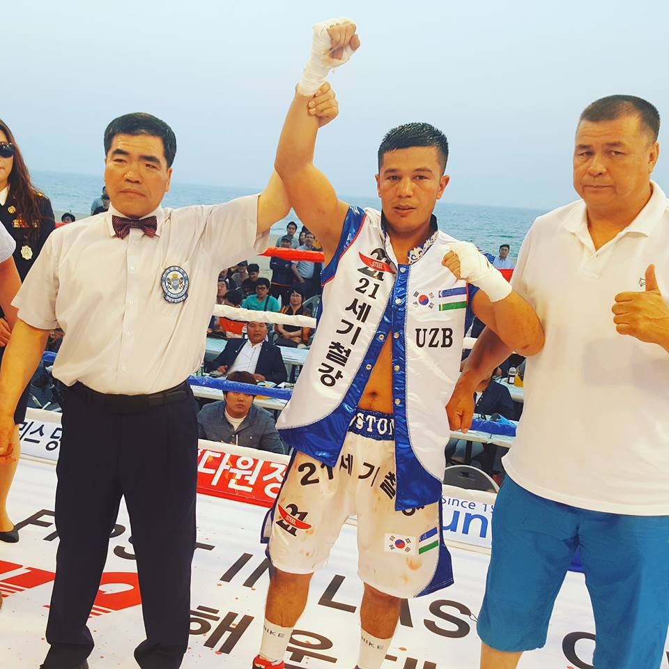 Uzbekistan's pro boxers have stunned Korean boxers in Busan